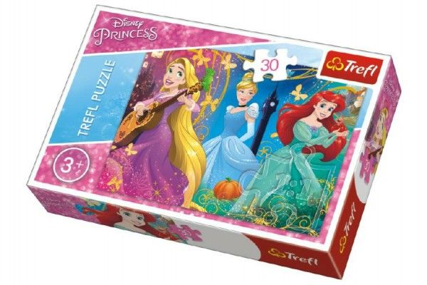 Puzzle Princezny Disney 27 x 20 cm 30 dílků v krabičce