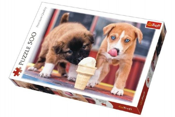Puzzle Pejsci se zmrzlinou 500 dílků 48 x 34 cm