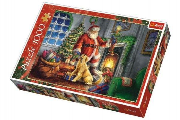 Teddies Puzzle Vánoce u krbu, 1000 dílků, 683 x 480 mm