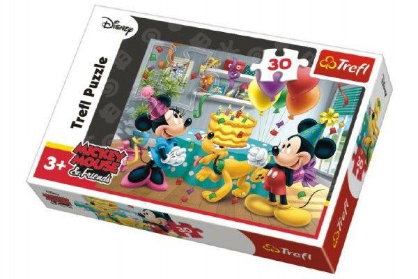 Puzzle Mickey a Minnie slaví narozeniny Disney 27x20cm