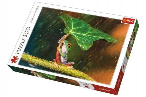 Puzzle Žába s listem 500 dílků 48 x 34 cm v krabici