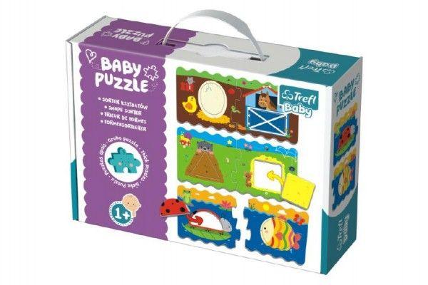 Puzzle baby Tvary 2 ks v krabici 27 x 19 x 6 cm 1+