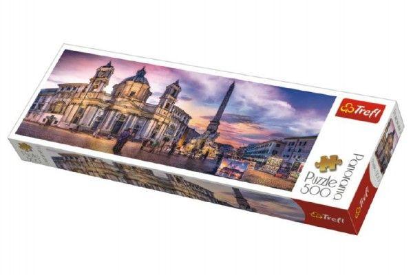 Puzzle Piazza Navona, Řím panorama 500 dílků