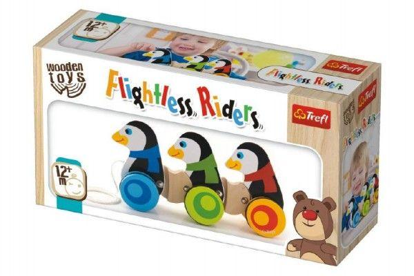 Tučňáci na kolečkách - 3 ks, Wooden Toys