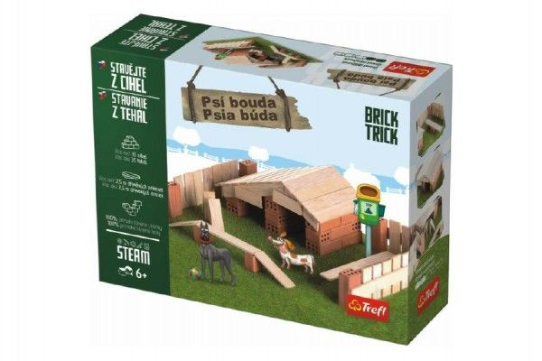 Stavějte z cihel Psí bouda stavebnice Brick Trick v krabici 28x21x7cm