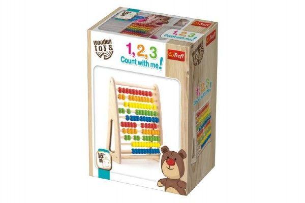 Počítadlo dřevěné Wooden Toys v krabičce 25,5x12,5x33,2cm 18m+
