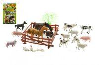 Zvířátka farma 8cm s doplňky 20ks na kartě