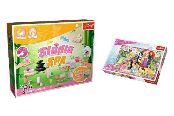 PACK Science for you Studio SPA 21 pokusů + Puzzle Disney Princezny 260 dílků v krabici 40