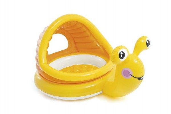 Bazén dětský šnek se stříškou 145x102x74 cm 1-3 let