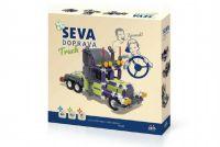 Stavebnice Seva Doprava Truck plast 402 dílků v krabici 35x33x5cm