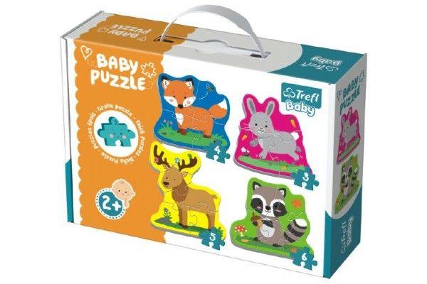 Puzzle baby Zvířátka v lese 4 ks v krabici 2+