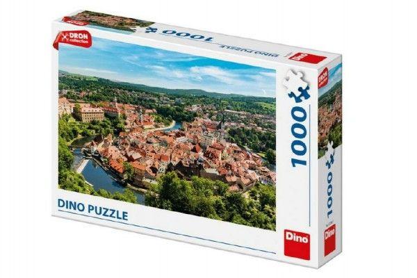 Puzzle Český Krumlov dron 1000 dílků 66x47cm v krabici 32x23x7cm