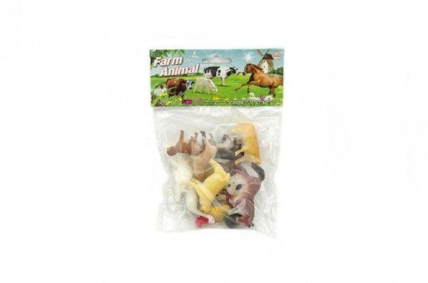Zvířátka domácí farma plast 5cm 12ks v sáčku