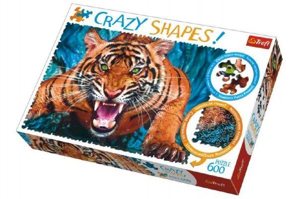 TEDDIES Puzzle Tváří v tvář tygrovi, 600 dílků, 68 x 48 cm