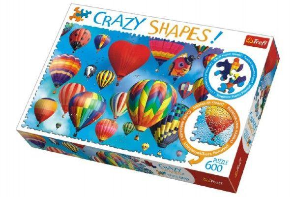 Puzzle Barevné balóny 600 dílků Crazy Shapes 68 x 48 cm