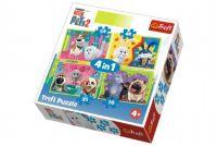 Puzzle 4v1 Tajný Život Mazlíčků 2 v krabici 28x28x6cm