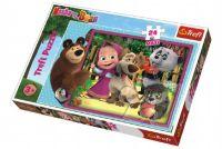 Puzzle maxi 24 dílků Máša a medvěd 60x40cm v krabici 40x27x5cm