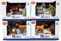 Sada zvířátka s doplňky farma plast asst 4 druhy v krabičce 17x12x9cm