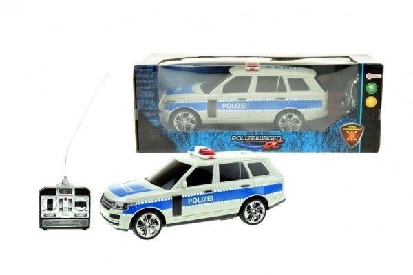 Auto RC policie plast 25cm na dálkové ovládání na baterie