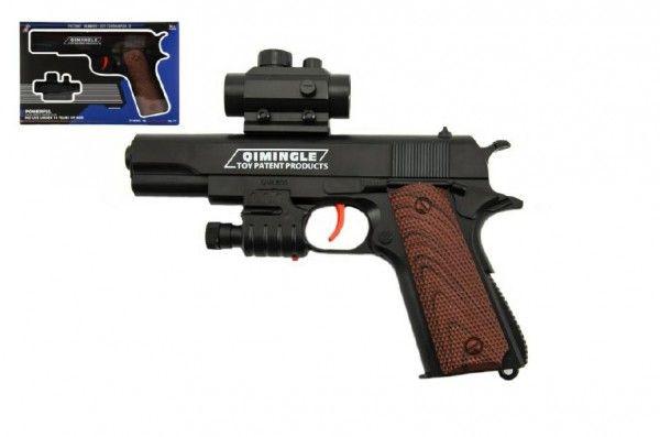 Pistole na vodní kuličky plast 20cm v krabičce 24x15x4cm