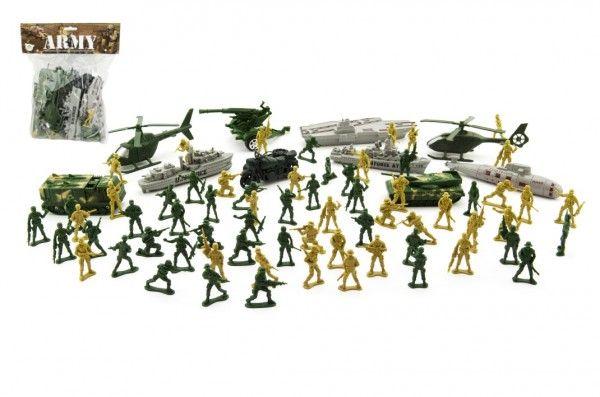 Sada vojáci s doplňky plast CZ design na kartě 24x30cm