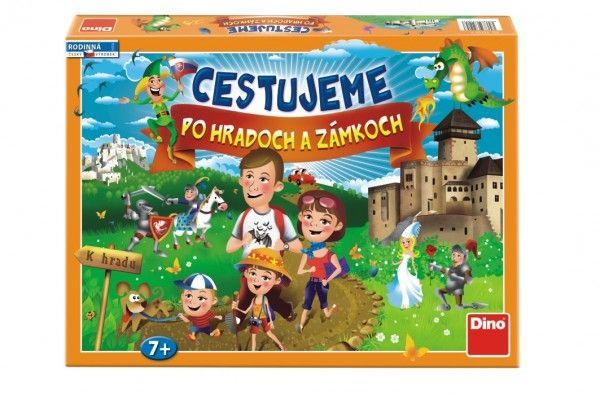 Cestujeme po hradoch a zámkoch společenská hra v krabici 43x30x5,5cm SK design
