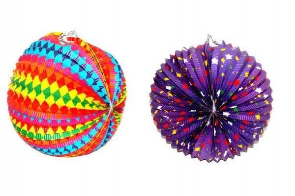 Lampion průměr 30cm v sáčku (bez hůlky) karneval