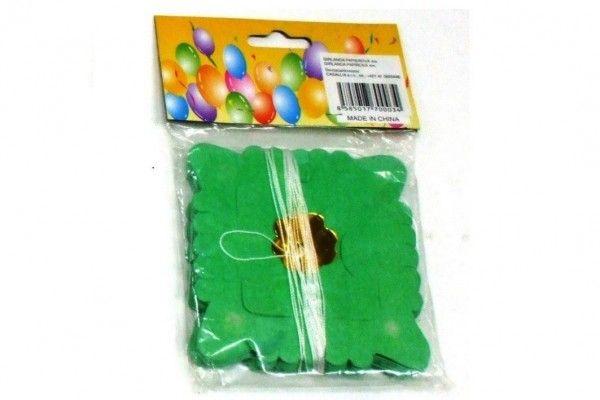 Girlanda papírová malý čtverec 4m v sáčku karneval