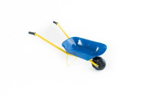 Teddies Kolečko plechové modré 75x30x40cm