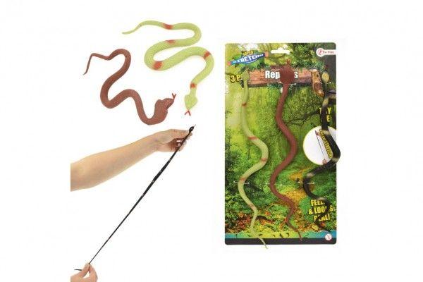 Had antistresový guma 30cm 3ks na kartě