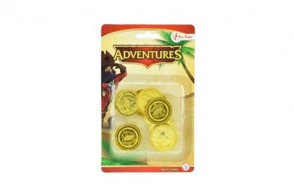 Pirátské mince plast 12ks na kartě