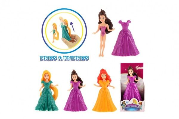 Panenka s měnícími šaty plast 10cm asst 3 druhy v krabičce
