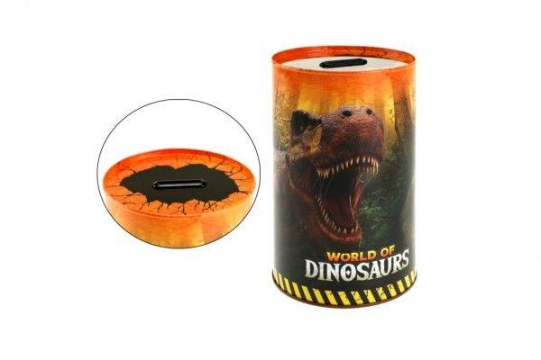 Pokladnička plech dinosaurus 10x15cm v sáčku