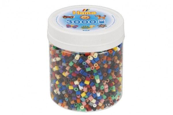 Zažehlovací korálky Hama plast 3000ks v dóze