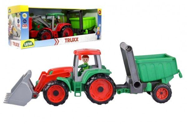 Auto Truxx traktor nakladač s přívěsem s figurkou