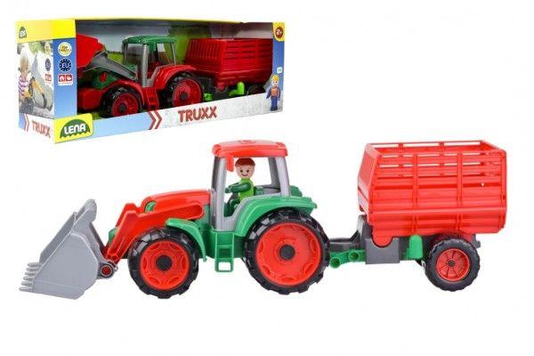 Auto Truxx traktor nakladač s přívěsem na seno s figurkou
