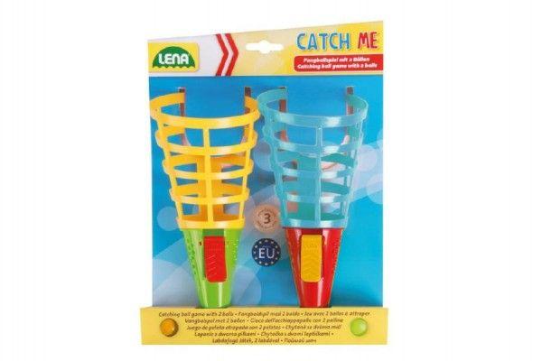 Catch ball 2 hry se 2 míčky plast 19 cm na kartě