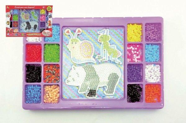 Zažehlovací mozaika 2000ks podložka 3ks plast v krabici 40x28x4cm