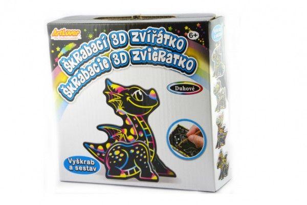 Škrabací 3D obrázek drak