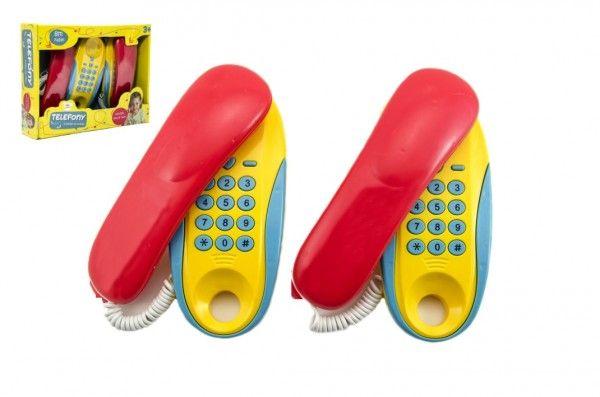 Telefony pokoj – pokoj plast na baterie 2ks vzdálenost 8m v krabici 30x24x7cm