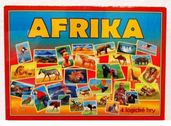 Afrika 4 logické hry společenská hra v krabici 29x20x4cm