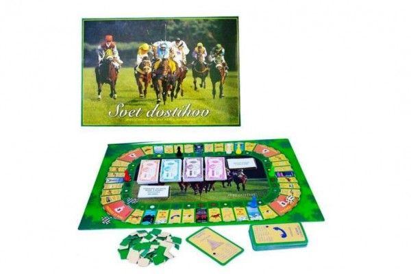 Svět dostihů společenská hra v krabici 42×29,5x6cm SK verze