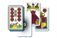 Mariáš jednohlavý  společenská hra  karty v plastové krabičce