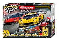 Autodráha Carrera GO!!! 62490 GT Showdown 3,6m + 2 formule v krabici 58x40x8cm