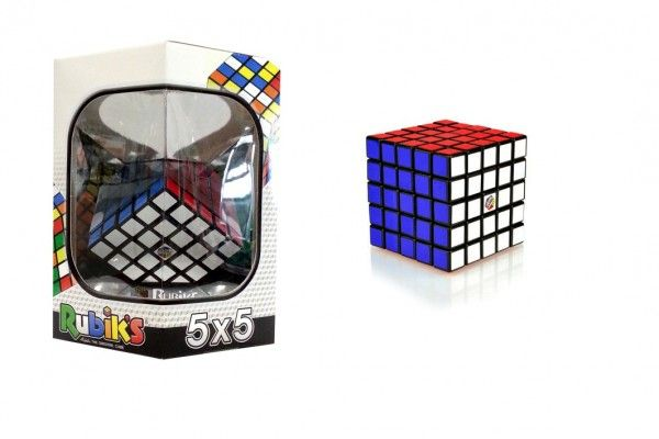 Rubikova kostka hlavolam 5x5 plast 7x7x7cm v krabičce 16x17x16cm