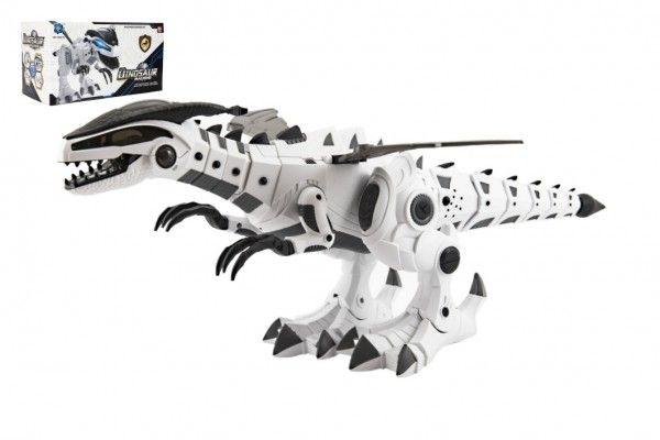 Chodící robot dinosaurus, se zvukem a světlem, plast, 40cm