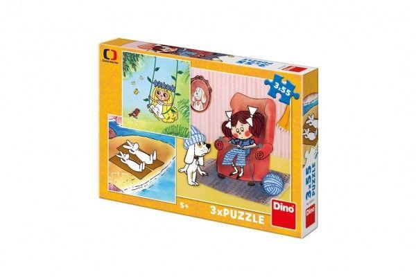 Puzzle Moje Pohádky 3x55 dílků v krabici 27x19x4cm