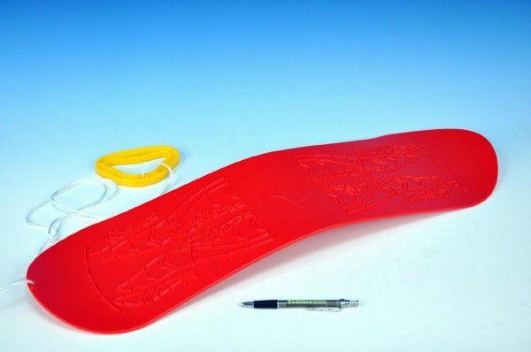 Plastkon snowboard červená