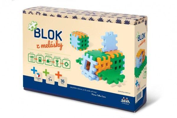 Stavebnice Blok z melásky - 36 ks