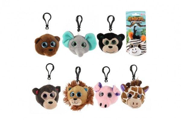 Přívěšek klíčenka na klíče plyš safari zoo 8cm